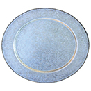 GALVANIZED STEEL CHARGER PLATE WITH GOLD BEAD EDGE
