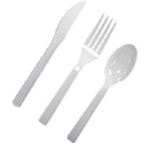 WHITE PLASTIC CUTLERY (DISPOSABLE)